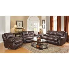 faux leather reclining sofa coaster rawlinson 3 piece faux leather reclining sofa set in tobacco
