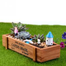 Rectangular Succulent Planter by New Wood Flowerpot Planter Box Garden Yard Rectangle Flower