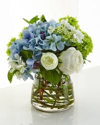 artificial floral arrangements ndi hydrangea rose faux floral arrangement