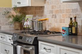 brickset backsplash grey quartz countertops slide in range