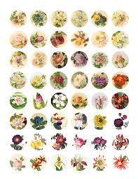 flower pattern for bottlecap magnets or charms could be used to