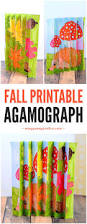 fall agamograph template for kids free printable