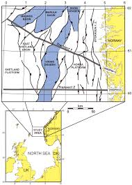 North Sea Map Key Map And Main Structural Elements Northern North Sea