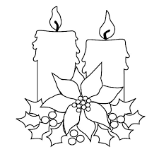 christmas candle decorating christmas tree coloring pages