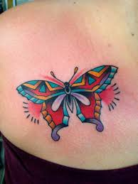 colorful butterfly and cross tattoo in 2017 real photo pictures