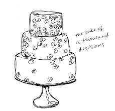 wedding cake image drawing