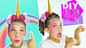 Homemade Halloween Makeup Recipes by Diy Halloween Unicorn Costume And Makeup Tutorial For Kids Diy