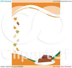 royalty free rf clipart illustration of an orange thanksgiving