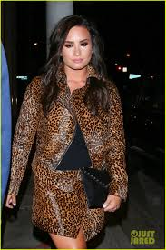 demi lovato leaked photos 2014 demi lovato shows off brunette hair during dinner out in la photo