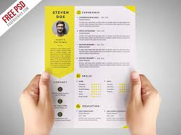 psd resume template clean resume cv template free psd psdfreebies
