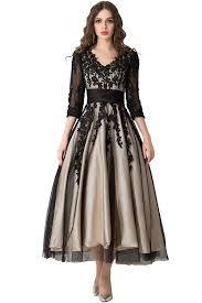 amazon com sunvary affordable prom ball dress v neck sleeves tea