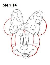 coloring graceful minie mouse drawing draw chibi