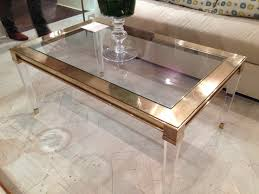 Coffee Table For Sale by Furniture White Golden Lucite Coffee Table For Your Living Room