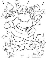 santa claus coloring pages 026
