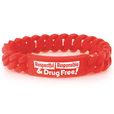 red silicone bracelet images Red ribbon week bracelets positive promotions jpg
