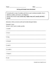 finding modal verbs worksheets educação pinterest worksheets