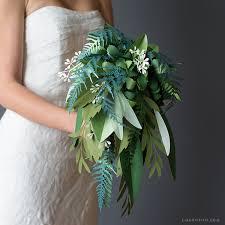 Wedding Flowers Greenery Paper Greenery Wedding Bouquet Video Tutorial