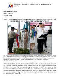 Guam Flag Philippine Consulate General In Guam Holds Flag Raising Ceremony