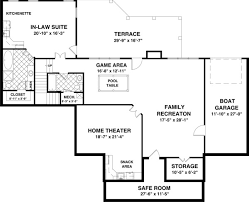 story house floor plans with basement and basement plan