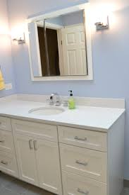 cambria quartz color whitney paired with painted white vanity