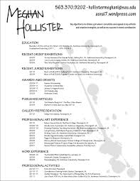 Resume Sample With Picture by Art Resume Template Resume Planner And Letter Template Artist