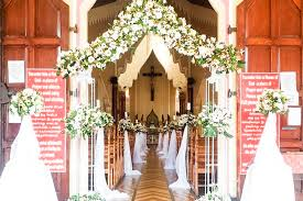 church wedding decorations church weddings from leriza flowers sri lanka s best flower