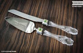 wedding cake knives and servers personalised personalized waterford wedding cake server and knife