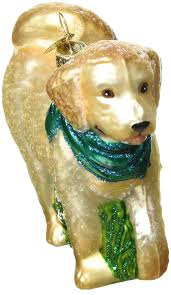 amazon com old world christmas doodle dog glass blown ornament