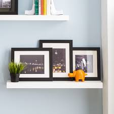 decorating alluring floating shelf bracket on white wall paint