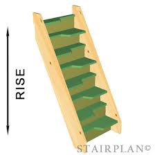 alternating tread staircase with 8 risers order your custom size