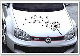autoaufkleber design auto pusteblume florales design blumen motiv aufkleber kfz