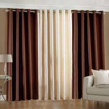 buy super india plain faux silk set of 3 pieces window curtain 4