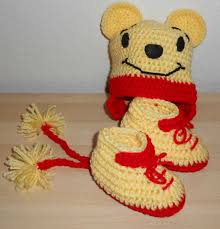 Disney Winnie The Pooh High Chair Winnie The Pooh Hat And Booties Set Crochet