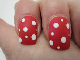 creative nail design by sue shellac hollywood with dots