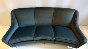 Curved Conversation Sofa by Italian Curved Grey Velvet Sofa 1950s For Sale At Pamono