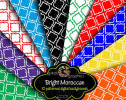 moroccan wrapping paper moroccan pattern etsy