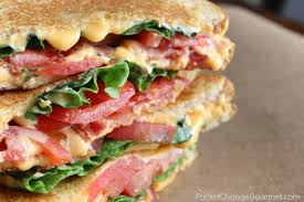 Bacon Lettuce and Tomato Grilled Cheese Sandwich Recipe