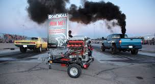 hellcat engine dodge fan wins hellcat engine at roadkill nights drag event