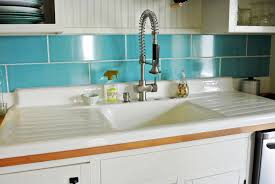 modern kitchen sink with drain boards and chrome faucet kitchen appliances drop in white cast iron kitchen sink with single