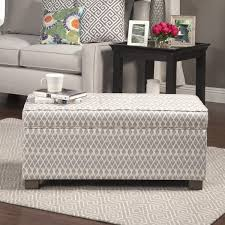 Homepop Storage Ottoman Homepop Grey Large Decorative Storage Ottoman Free