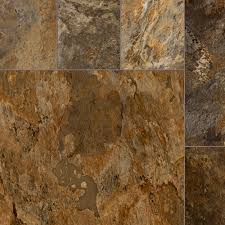 Vinyl Sheets Home Depot by Trafficmaster Quarry Stone Slate Rust 13 2 Ft Wide X Your Choice