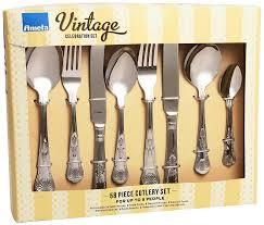 amefa vintage kings 58 piece 8 person luxury cutlery set gift