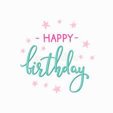 happy birthday simple design happy birthday lettering sign quote typography stock illustration