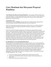 Contoh Membuat Proposal Riset | cara membuat dan menyusun proposal penelitian ok