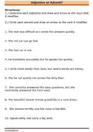 esl grammar worksheets adjective or adverb