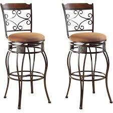 Bar Stool Sets Of 2 Amazing Acme Tavio Swivel Bar Chair Set Of 2 Saddle Walmart On