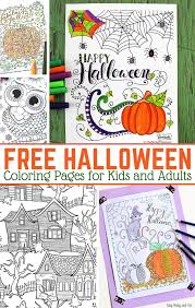 halloween coloring pages adults easy peasy fun