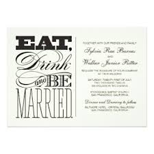 Eat Drink And Be Married Invitations Wedding Invitations U0026 Announcements Zazzle Nz