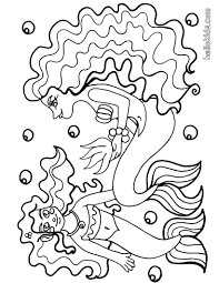 beautiful mermaid coloring pages hellokids com