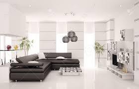 salon avec canapé noir moderne salon avec canapé noir et de rendu 3d intérieur de lcd